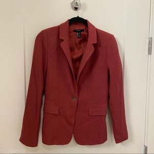 FOREVER 21 Maroon Blazer Suit Jacket F21 xs small